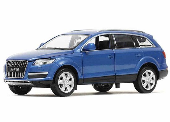 1:24 Scale Blue / White Kids Diecast Audi Q7 Toy