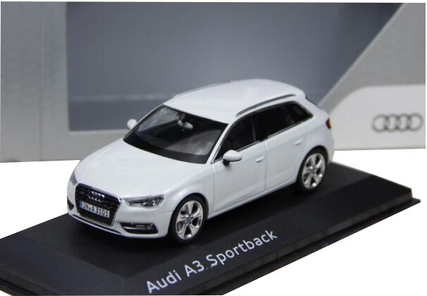 1:43 Scale Red / Black / White Diecast Audi A3 Sportback Model