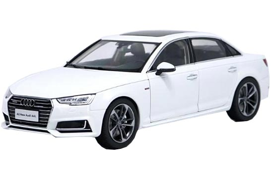 White / Brown / Silver 1:18 Diecast 2017 New Audi A4L Model