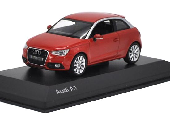 Red / Black 1:43 Scale Kyosho Diecast Audi A1 Model
