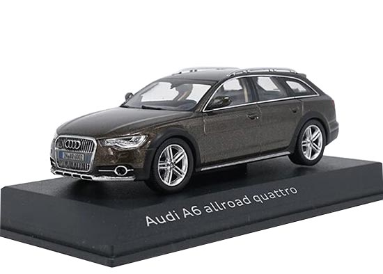 Brown / Golden 1:43 Scale Diecast Audi A6 Allroad Quattro Model