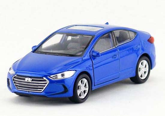 Red / Blue 1:36 Scale Kids Welly Diecast Hyundai Elantra Toy