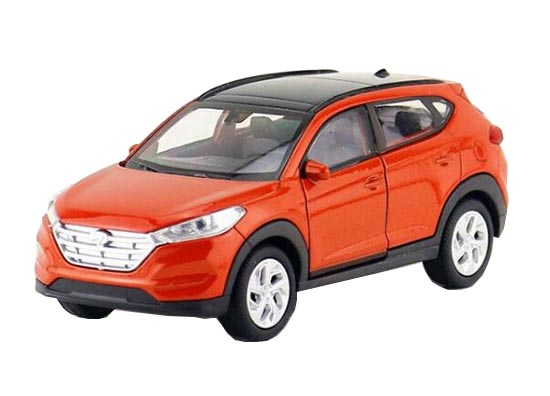 Orange / White 1:36 Scale Welly Diecast Hyundai Tucson Toy