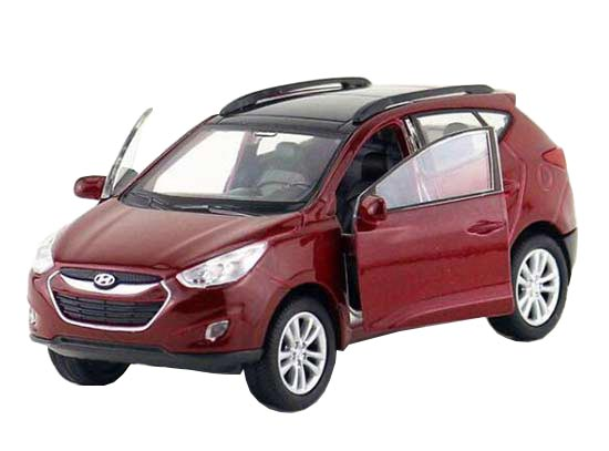 Wine Red / White 1:36 Welly Diecast Hyundai Tucson ix35 Toy