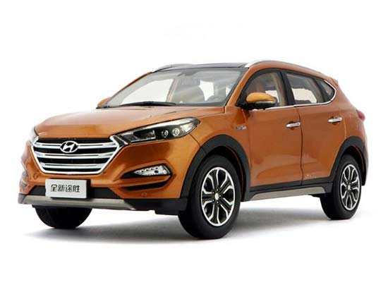 Gray / Blue / Orange 1:18 2015 Diecast Hyundai Tucson Model