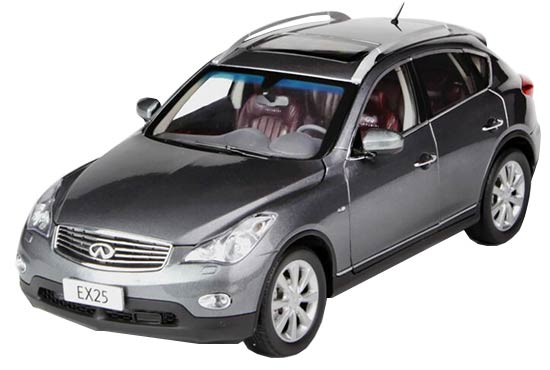 1:18 Scale White / Red / Gray 2013 Diecast Infiniti EX25 Model