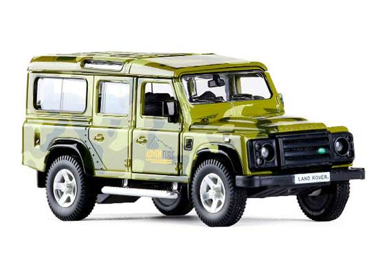 Kids 1:36 Khaki / Army Green Diecast Land Rover Defender Toy