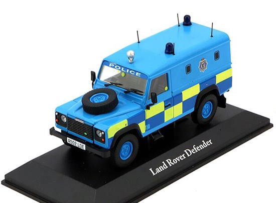 1:43 Scale Blue Police Diecast Land Rover Defender Model