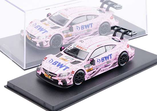 1:43 Scale Pink NO.22 Diecast Mercedes-Benz C63 AMG DTM Toy