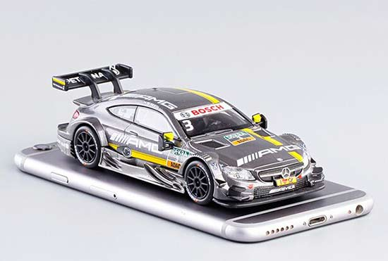 1:43 Dark Gray NO.84 Diecast Mercedes-Benz C63 AMG DTM Toy