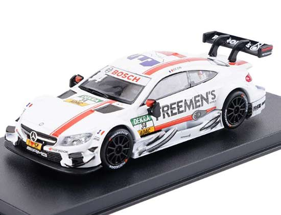White 1:43 NO.34 Diecast Mercedes-Benz C63 AMG DTM Toy