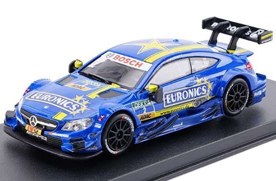 Blue 1:43 Kids NO.2 Diecast Mercedes-Benz C63 AMG DTM Toy