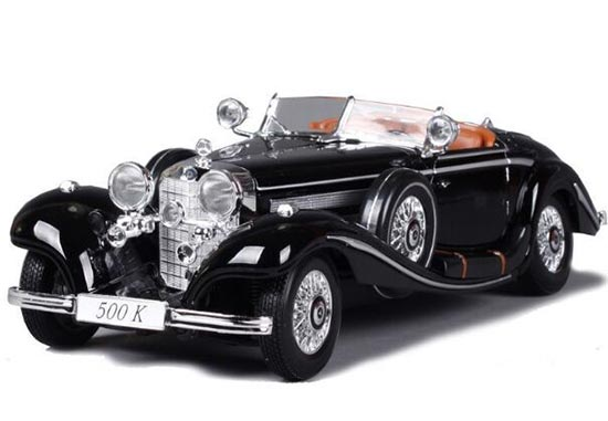 Black / White 1:18 Scale MaiSto Diecast Mercedes-Benz 500K Model
