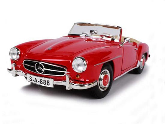 1:18 Scale Red Maisto Diecast 1955 Mercedes-Benz 190SL Model