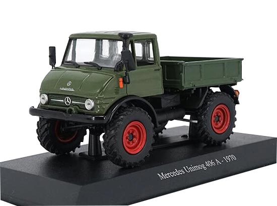 Deep Green 1:43 1970 Diecast Mercedes-Benz Unimog 406 A Model