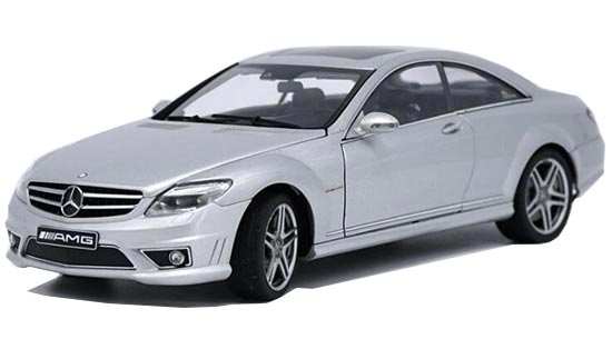 Silver 1:18 Scale Autoart Diecast Mercedes-Benz CL63 AMG Model