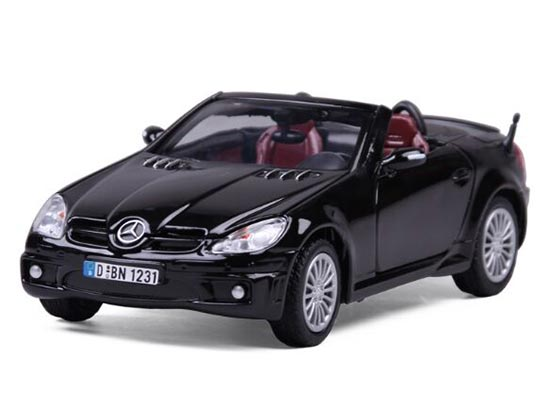 1:24 Scale Black / Silver Diecast Mercedes-Benz SLK55 AMG Model