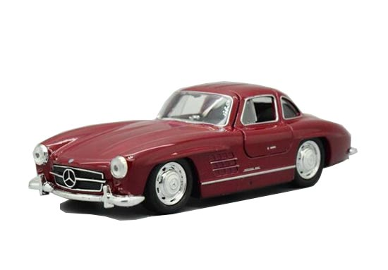 1:36 Scale Red / Black Kids Diecast Mercedes-Benz 300SL Toy