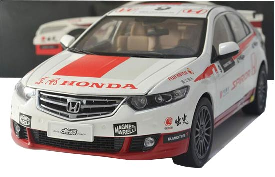 1:18 Scale Red-White Diecast Honda SPIRIOR CTCC Model