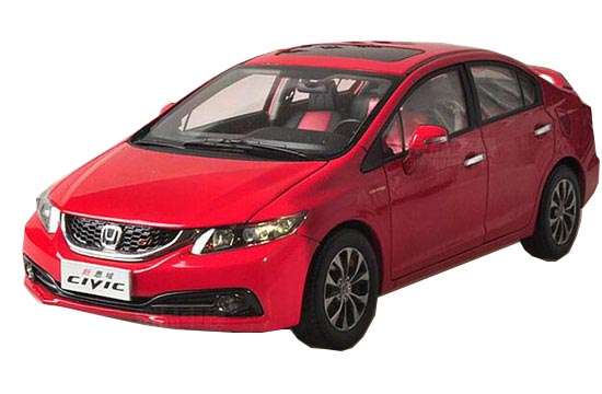 1:18 Scale Red Diecast 2014 Honda CIVIC Model