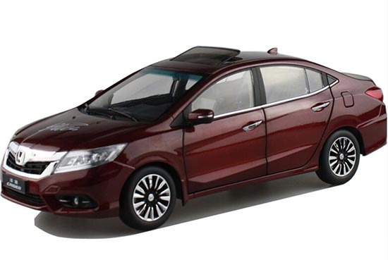 1:18 Scale White / Wine Red Diecast Honda CRIDER Model