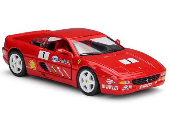 1:24 Scale Red Bburago Diecast Ferrari F355 Challenge Model