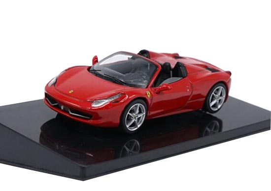 1:43 Scale Red Diecast Ferrari 458 Spider Model
