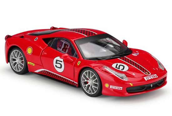 Red 1:24 Scale Bburago Diecast Ferrari 458 Challenge Model