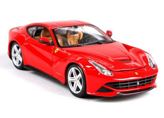1:24 Red / Yellow Bburago Diecast Ferrari F12 Berlinetta Model