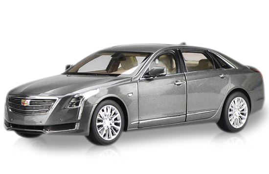 Gray / White 1:18 Scale 2016 Diecast Cadillac CT6 Model