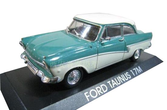 Blue-White 1:43 IXO Diecast Ford Taunus 17M Model