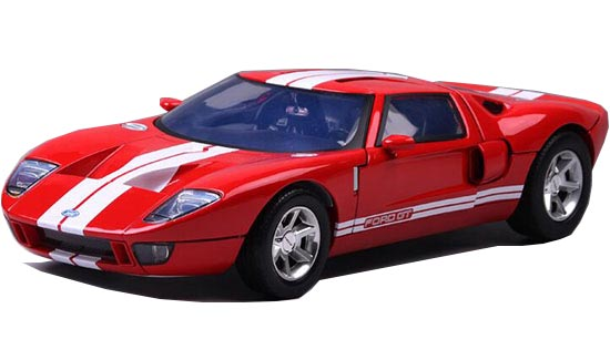 1:12 Scale Red-White Motormax Diecast Ford GT Concept Model