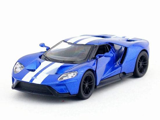 Gray / Red / Blue / White 1:38 Kids Diecast 2017 Ford GT Toy