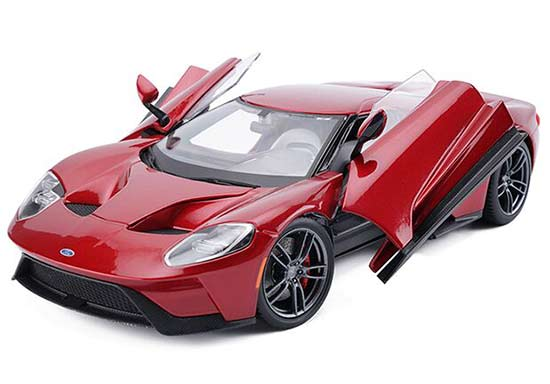 1:18 Red / Yellow / Blue Maisto 2017 Diecast Ford GT Model