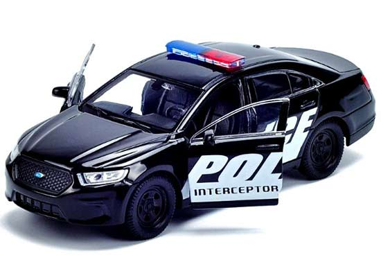 Kids 1:36 Scale Black Welly Diecast Ford Police Interceptor Toy