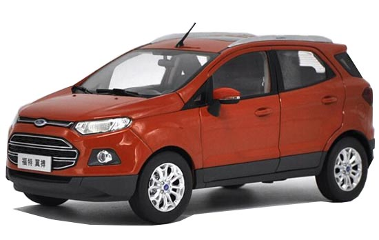 1:18 Scale Orange Diecast Ford EcoSport Model