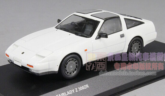 White 1:43 Scale KYOSHO Die-Cast Nissan Fairlady Z 300ZR Model