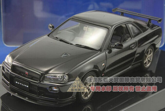 Black 1:43 Scale AUTOart Diecast Nissan Skyline Model