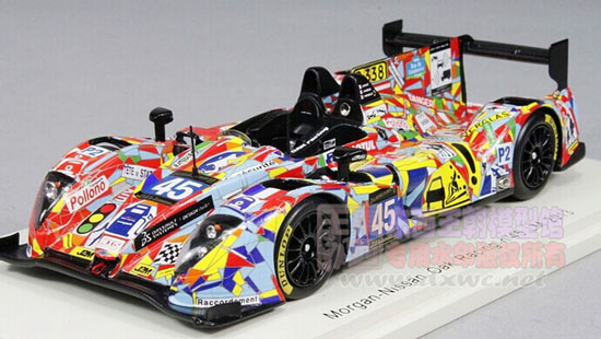 1 43 Scale Colorful No 45 Lmp2 Nissan Morgan Racing Car