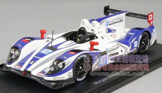 White 1:43 Scale NO.47 Nissan Morgan Racing Car Model
