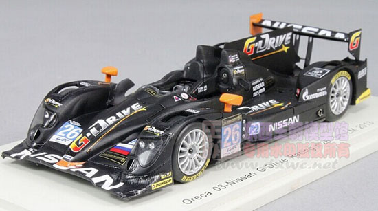 Black 1:43 Scale NO.26 2013 LM Nissan Racing Car Model