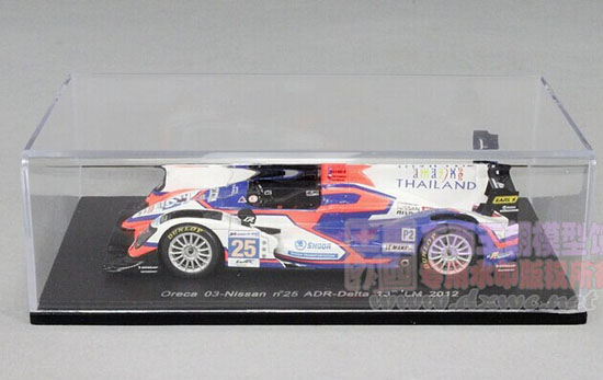 White 1:43 Scale NO.25 LM 2012 Nissan Racing Car Model