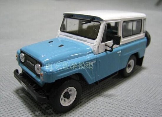 White Blue 1 43 Scale Ixo Die Cast Nissan Patrol 60 Suv