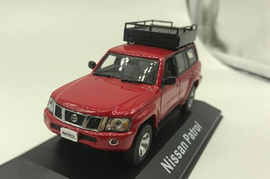 Red 1:43 Scale Diecast Nissan Patrol Model