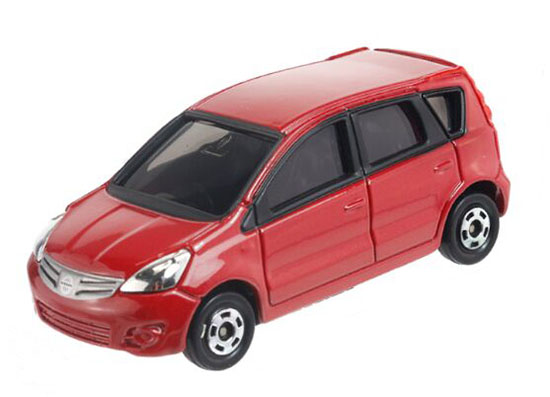 Red 1:60 Mini Scale TOMY NO.22 Diecast Nissan Note Toy