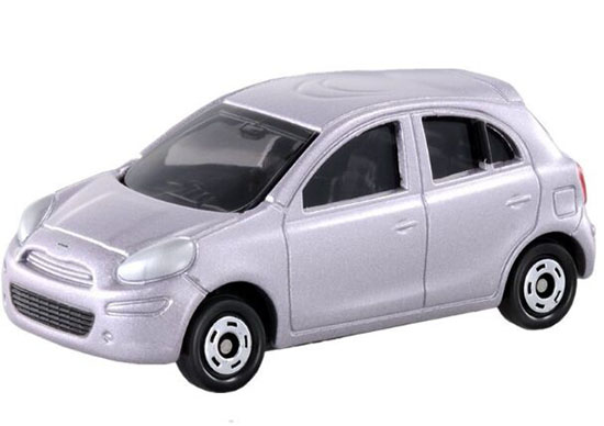 Silver Mini Scale NO.12 TOMY Die-Cast Nissan March Toy