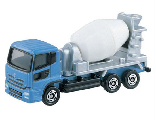 Blue Mini Scale NO.53 TOMY Nissan DIESEL QUON Mixer Truck