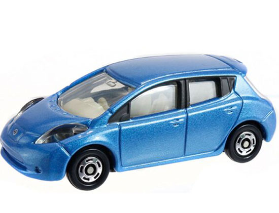 1:68 Scale Blue / Red NO.120 TOMY Diecast Nissan LEAF Toy