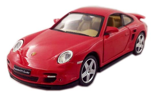 White Yellow Red Blue 1 32 Scale Porsche 911 Turbo Toy