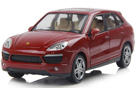 Red / Gray 1:24 Scale Die-Cast Porsche Cayenne S Model